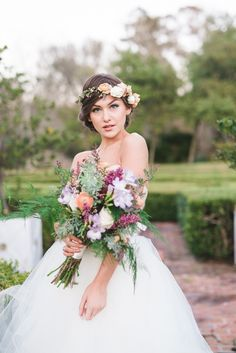 Ruffled - photo by Nicoll's Wedding Photography http://ruffledblog.com/whimsical-garden-wedding-ideas   Ruffled