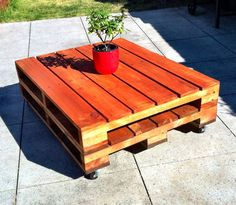 Outdoor pallet table!
