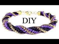 """DIY: Kumihimo spiral bracelet / Браслет """"Кумихимо"""" спиральный из 12 нитей"""