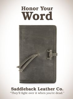Saddleback Leather Bible Cover in Carbon | 100 year Warranty | $43.00