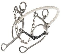 Showman ® stainless steel, rope nose combination but with twisted sweet iron mouth