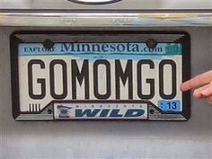 vanity license plates -