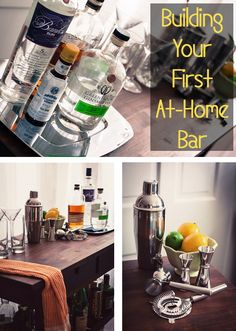 All The Essentials You Need To Stock Your Very First At Home Bar. #