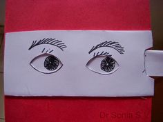 Moving eyes paper fun activity for school kids
