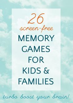 Great ideas for memory games for kids. These are all screen-free ideas and many can also be played on the go.