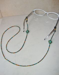 1294e342b296 Beaded Eyeglass Holder   Eyeglass Chain by CoastalCreationz Eyeglass Holder
