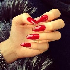 Almond shaped red nails are our obsession....... http://www.niyot.com/collections/the-reds-nail-wardrobe #red #nails #almond #nailpolish #niyotbeauty #makeup #beauty