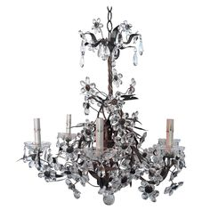 Vintage Maison Baguès Style Crystal Chandelier   See more antique and modern Chandeliers and Pendants at https://www.1stdibs.com/furniture/lighting/chandeliers-pendant-lights