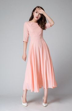 Women S Fashion Mail Order Catalogs Summer Dresses With Sleeves, Half Sleeve Dresses, Prom Party Dresses, Homecoming Dresses, Bridesmaid Dresses, Dress Prom, Occasion Dresses, Bridesmaids, Pink Chiffon Dress