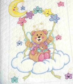 Baby Cross Stitch Patterns, Cross Stitch Charts, Cross Stitch Designs, Cross Stitching, Teddy Bear, Cartoon, Blog, Animals, Cute Bears