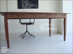 Teak Furniture チークアンティークテーブルIA 長机 デスク 北欧 一枚板 総無垢 インテリア 雑貨 家具 Modern ¥128500yen 〆05月23日
