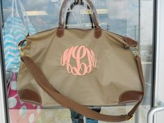 Gimme dat! Champ Weekender Bag Monogram Font Shown MASTER by MONOGRAMSINC, $29.99