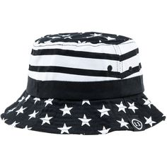 Elevn Clothing Co STARS AND STRIPES BUCKET HAT ($35) ❤ liked on Polyvore featuring men's fashion, men's accessories, men's hats, hats and navy