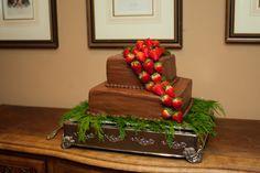 Groom's cake - chocolate + strawberries - by Cathy Epperly. Atlanta Wedding Photographer Lauren Wright