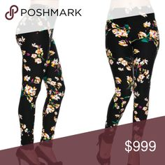 """SPRING Leggings!!! Buttery soft like lularoe gorgeous floral leggings. Comes in original packaging. Sizing is one size fits all (S-L). Inseam approx 27"""" Pants Leggings"""