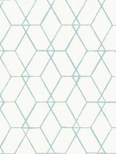 Terence Conran Osterlen Hexagon Wallpaper