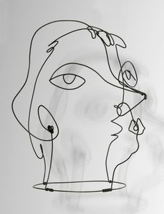 Alexander Calder, Kiki de Montparnasse (II) wire mask; Paris' Centre Pompidou