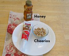 This recipe was inspired by KONG office dog, Colonel Puppers.  Ingredients:  Cheerios Stuff'N Real Peanut Butter Honey   Mix all the ingredients in a bowl. Stuff into the KONG and freeze for a tasty Summer treat.