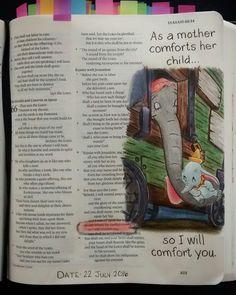 Bev Knaup bible journaling Isaiah 66:13