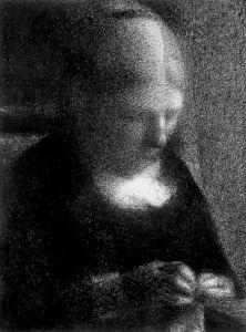 Mère de l artiste - (Georges Pierre Seurat)