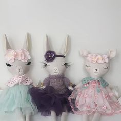 Girls are listed in my Etsy shop! Sorry....Purple lama already taken. * #fabricfordolls #heirloomdoll #lovehandmade #clothdoll #birthdaygift #birthdaygirl #toyforlife #etsyfinds #shopsmall #mum #kids #babygirl #animaldoll #softtoy #babygifts #doll #lamas #pink #instamum #fawndoll