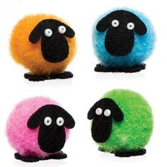 Mini Pom Pom Fluffy Sheep - Bakerross
