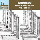 A collection of decorative borders that can be used for backgrounds and a variety of other purposes. This pack includes:- 20 different borders- ...