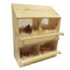 Poultry Laying Nest Box - 4 Holes
