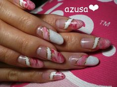 marble french gel❤ by azusa - Nail Art Gallery nailartgallery.nailsmag.com by Nails Magazine www.nailsmag.com