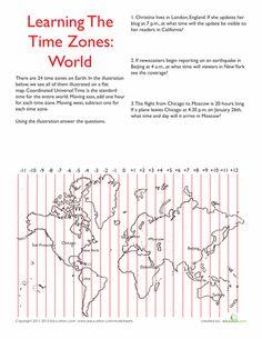 Worksheets: World Time Zones