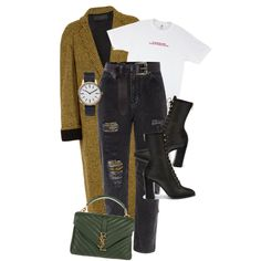 Untitled #713 by nadaoutfits on Polyvore featuring polyvore, fashion, style, Haider Ackermann, River Island, Yves Saint Laurent, Uniform Wares, Karen Millen and clothing