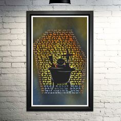 """Nightmare Before Christmas Lock Shock and Barrel word art print,11x17"""". This print is made entirely out of words! The image shows Lock, Shock, and Barrel, formed with the lyrics to """"Kidnap the Sandy Claws."""" This is an 8x10"""" image printed on archival quality paper. Please note this is a print only, unframed."""