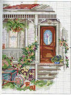 Schema punto croce Casa E Varanda 03