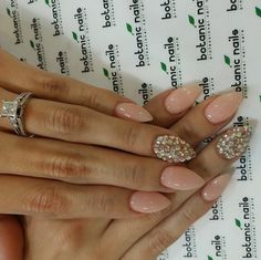 Dope nails of the day...nude and sparkle http://mckenzierenae.com/dope-nails-of-the-day-nude-sparkle/