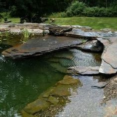 Amazing Garden Ponds A well done garden pond can add a lot to your landscape plan. There are endless possibilities. If you have some terrain in your yard you could even have a stream and or a water… #GardenPond