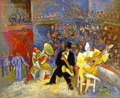 The circus / Le cirque by Jean Dufy Jean Dufy, was the younger brother of Raoul Dufy, celebrated artist of the Promenade des A. Circus Poster, Circus Art, Maurice De Vlaminck, Andre Derain, Raoul Dufy, Georges Braque, A Level Art, Post Impressionism, Expositions