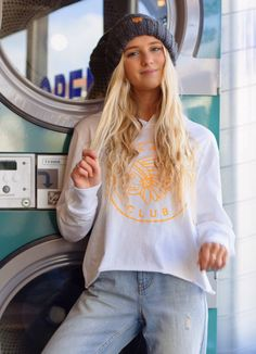 Comfy & casual is our vibe! Our cropped Skate Club Hoodie is great to just throw on & go! Adventure Outfit, Club Design, Clothing Logo, Comfy Casual, Cropped Hoodie, Capsule Wardrobe, Skate, Girly, Hoodies