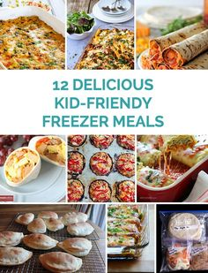 Delicious make ahead freezer friendly meals. These are ones the whole family will enjoy, especially kids! #freezermeals #dinnerforkids