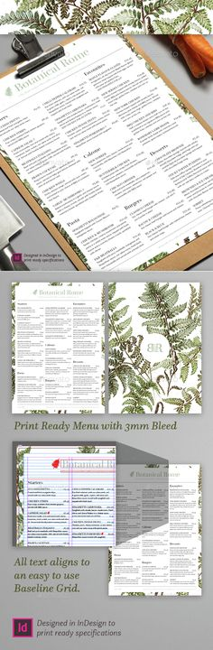 Botanical Restaurant Menu  - EPS Template • Only available here ➝ http://graphicriver.net/item/botanical-restaurant-menu/15228239?ref=pxcr