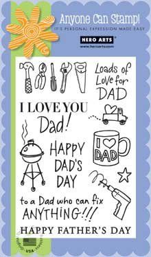 Hero Arts Fathers Day Woodblock Stamp Set