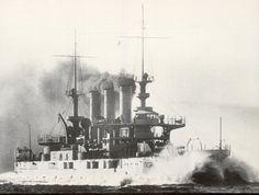 USS Minnesota (BB-22) on builder's trials, making 18.1 knots.