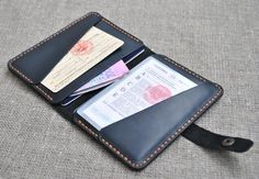 Leather Passport Wallet, Holder driver's purse, Document Holder, Leather wallet, Mens Wallet, Gifts for Men, Passport case, Leather passport by OldOnLeather on Etsy
