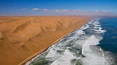 "Côtes des Squelettes (""Squeleton Coast""), en Namibie Waves, Outdoor, Skeletons, Wonders Of The World, Africa, Board, Outdoors, Ocean Waves, Outdoor Games"