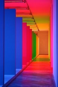 Neon Hallway #party #interiordesign