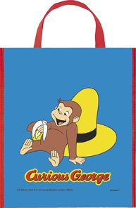 Pack) Large Plastic Curious George Favor Bag, 13 inch x 11 inch Curious George Party, Curious George Birthday, Goodie Bags, Favor Bags, Halloween Trick Or Treat, Happy Halloween, 1st Birthday Parties, 2nd Birthday, Party Themes