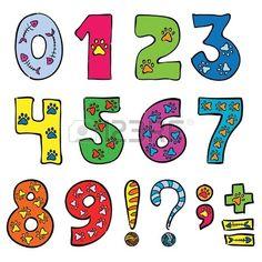 números y signos conjunto divertido