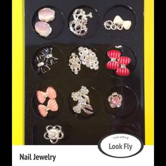 Nail Jewelry New  21 pieces of nail jewelry, brand new, nail for toes and fingers, recommend using clear nail polish for adhering to nails so the jewelry can be reused, can be dressed up or down, thanks Jewelry