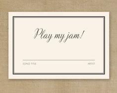DIY Printable Wedding DJ Song Request Card add to invite Wedding Music, Wedding Paper, Wedding Cards, Diy Wedding, Dream Wedding, Wedding Ideas, Wedding Shot, Wedding Reception, Handmade Wedding