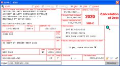 Cancellation of Debt - Data is entered onto windows that resemble the actual forms. Imports debtor information from spreadsheets or delimited text files. Files Copy A electronically via IRS FIRE or on preprinted laser forms. Prepares creditor and debtor copies on ordinary copy paper or PDF for eDelivery. Irs Forms, Check Box, Student Information, Labor Law, Copy Paper, City State, Videos, Accounting, User Interface