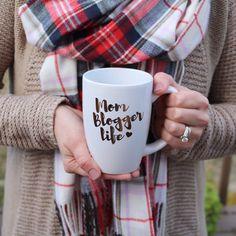 Mom Blogger Life Coffee Mug | Metallic Gold | Mom Blog | Blogger Mug | Blogger Gift | Mom Coffee | Blog Mug @SUGARMAPLEnotes